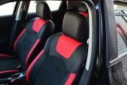 Фото 3 - Чехлы MW Brothers Nissan Juke (2011-н.д.), красные вставки + красная нить