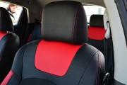 Фото 4 - Чехлы MW Brothers Nissan Juke I (2011-2019), красные вставки + красная нить