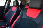 Фото 5 - Чехлы MW Brothers Nissan Juke (2011-н.д.), красные вставки + красная нить