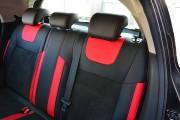 Фото 6 - Чехлы MW Brothers Nissan Juke (2011-н.д.), красные вставки + красная нить