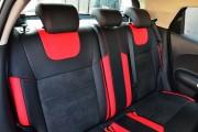 Фото 8 - Чехлы MW Brothers Nissan Juke I (2011-2019), красные вставки + красная нить