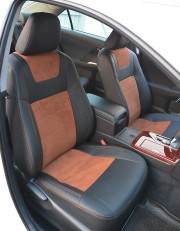 MW Brothers Toyota Camry XV 50/55 (2011-2017), коричневая алькантара+коричневая нить