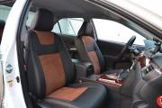 Фото 6 - Чехлы MW Brothers Toyota Camry XV 50/55 (2011-2017), коричневая алькантара+коричневая нить