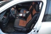 Фото 8 - Чехлы MW Brothers Toyota Camry XV 50/55 (2011-2017), коричневая алькантара+коричневая нить