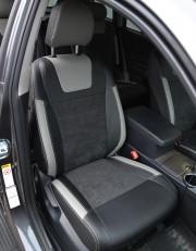 MW Brothers Toyota Highlander II (2008-2013), светлые вставки + серая нить