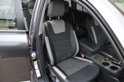 Фото 3 - Чехлы MW Brothers Toyota Highlander II (2008-2013), светлые вставки + серая нить