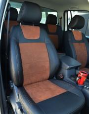 MW Brothers Volkswagen Amarok (2009-н.д.), коричневая алькантара + коричневая нить