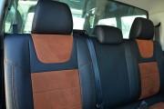 Фото 2 - Чехлы MW Brothers Volkswagen Amarok (2009-н.д.), коричневая алькантара + коричневая нить