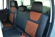 Фото 7 - Чехлы MW Brothers Volkswagen Amarok (2009-н.д.), коричневая алькантара + коричневая нить