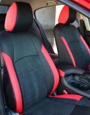 MW Brothers Mazda 3 III (2013-н.д.) красные вставки + красная нить