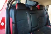Фото 3 - Чехлы MW Brothers Mazda 3 III (2013-н.д.) красные вставки + красная нить