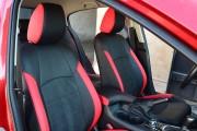 Фото 8 - Чехлы MW Brothers Mazda 3 III (2013-н.д.) красные вставки + красная нить