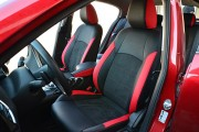 Фото 4 - Чехлы MW Brothers Mazda 3 III (2013-н.д.) красные вставки + красная нить
