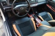 Фото 3 - Чехлы MW Brothers Toyota Camry XV 30/35 (2001-2006) оранж вставки + оранж нить