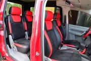 """'ото 5 - """"ехлы MW Brothers Volkswagen Caddy III (2004-2015), красные вставки + красна¤ нить"""