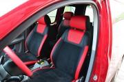 """'ото 6 - """"ехлы MW Brothers Volkswagen Caddy III (2004-2015), красные вставки + красна¤ нить"""