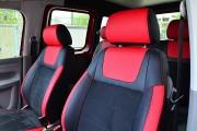 """'ото 8 - """"ехлы MW Brothers Volkswagen Caddy III (2004-2015), красные вставки + красна¤ нить"""