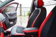 Фото 7 - Чехлы MW Brothers Hyundai I20 (2014-н.д.), красные вставки
