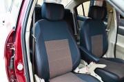 Фото 6 - Чехлы MW Brothers Hyundai Accent Verna (2005-2010), красная нить
