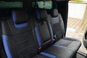 Фото 2 - Чехлы MW Brothers Ford Ranger III (2011-2015), синие вставки + синяя нить