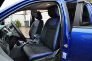 Фото 3 - Чехлы MW Brothers Ford Ranger III (2011-2015), синие вставки + синяя нить