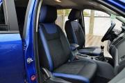 Фото 8 - Чехлы MW Brothers Ford Ranger III (2011-2015), синие вставки + синяя нить