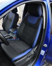 MW Brothers Ford Ranger III (2015-н.д.), синие вставки + синяя нить