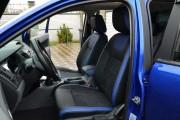 Фото 3 - Чехлы MW Brothers Ford Ranger III (2015-н.д.), синие вставки + синяя нить