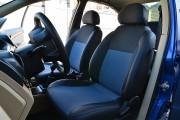 Фото 2 - Чехлы MW Brothers ZAZ Vida sedan (2012-н.д.), синяя нить