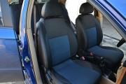 Фото 6 - Чехлы MW Brothers ZAZ Vida sedan (2012-н.д.), синяя нить