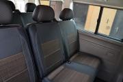 Фото 6 - Чехлы MW Brothers Volkswagen T5 Caravelle (2000-2010) пассажир (9 мест), серая нить
