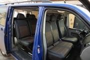 Фото 2 - Чехлы MW Brothers Volkswagen T5 Caravelle рестайлинг (2010-2015) пассажир (9 мест), серая нить