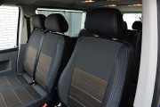 Фото 8 - Чехлы MW Brothers Volkswagen T5 Caravelle рестайлинг (2010-2015) пассажир (9 мест), серая нить