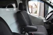 Фото 8 - Чехлы MW Brothers Nissan Primastar (2001-2014) грузовой (1+1), серая нить