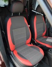MW Brothers Fiat Doblo II (2010-2014), красные вставки + красная нить