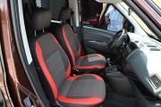 Фото 3 - Чехлы MW Brothers Fiat Doblo II (2010-2014), красные вставки + красная нить