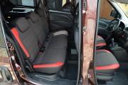 Фото 5 - Чехлы MW Brothers Fiat Doblo II (2010-2014), красные вставки + красная нить