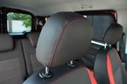 Фото 8 - Чехлы MW Brothers Fiat Doblo II (2010-2014), красные вставки + красная нить