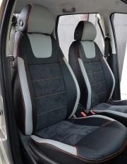 MW Brothers Fiat Punto Classic (2007-2011), светлые вставки + оранж. нить