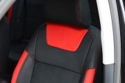 Фото 7 - Чехлы MW Brothers Skoda Octavia A5 FL (2009-2013), красные вставки + красная нить