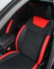 MW Brothers Skoda Octavia A5 FL (2009-2013), красные вставки + красная нить