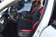 Фото 4 - Чехлы MW Brothers Skoda Octavia A7 Ambition, Elegance (2013-2016), красные вставки + красная нить