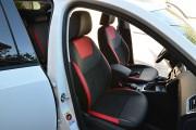 Фото 7 - Чехлы MW Brothers Skoda Octavia A7 Ambition, Elegance (2013-2016), красные вставки + красная нить