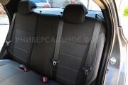 Фото 4 - Чехлы MW Brothers Nissan Sentra (B17) (2013-н.д.), серая нить