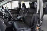 фото 2 - Чехлы MW Brothers Fiat 500 (2007-н.д.), серая нить