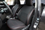 Фото 2 - Чехлы MW Brothers Toyota Auris I (2006-2012), красная нить