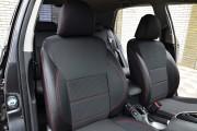 Фото 5 - Чехлы MW Brothers Toyota Auris I (2006-2012), красная нить