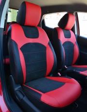 MW Brothers Mazda 2 (2007-2014), черно-красные + красная нить