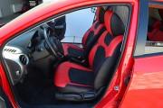 Фото 6 - Чехлы MW Brothers Mazda 2 (2007-2014), черно-красные + красная нить