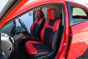 Фото 7 - Чехлы MW Brothers Mazda 2 (2007-2014), черно-красные + красная нить